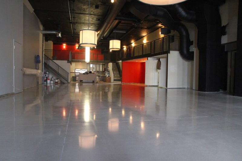 Cement Overlay Garage Floor